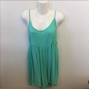 NWT Volcom Teal Lace Romper